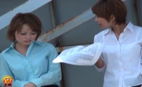 Shitting on Japanese office girl