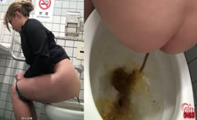 Japanese babe needs to flush more