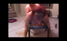 Fucking her hard with scat