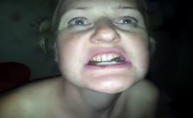 Teen blonde eating scat