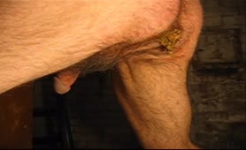 Big turd from hairy ass