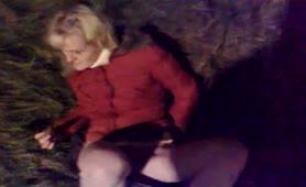 Masturbating near a pile of crap