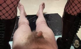 Forced to masturbate with scat