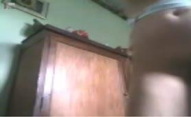 Drunk girl on webcam