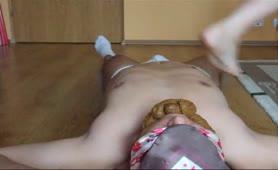 Rubbing crap on a slave