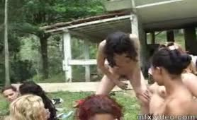 Scat lesbian orgy outdoor