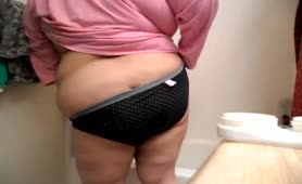 BBW granny did panty poop accident