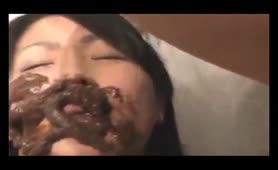 Bride takes a pile of shit on her face
