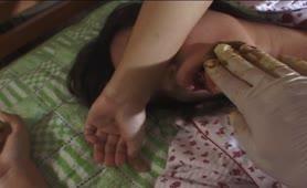 Japanese teen eating poop
