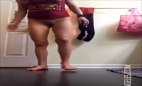 Adorable blonde girl pooping
