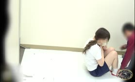 Japanese schoolgirls that use the public bathroom